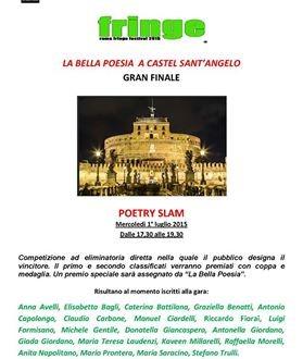 Poetry Slam Gran Finale a Castel Sant'Angelo