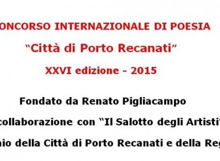 """XXVI Premio di Poesia """"Città di Porto Recanati"""" fondato dal prof. Renato Pigliacampo"""