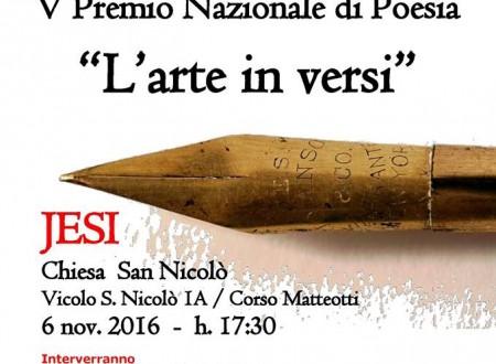 Jesi si veste di poesia, da tutta Italia per la premiazione del V Premio 'L'arte in versi'