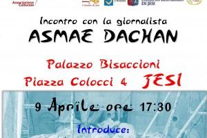 """""""Siria, la cultura sotto le macerie"""", incontro con la giornalista Asmae Dachan il 9 aprile a Jesi (AN)"""