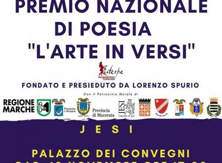 """VII Premio di Poesia """"L'arte in versi"""": a Jesi sabato 10 novembre tutti i premiati. Ricordo dell'esperantista Amerigo Iannacone"""
